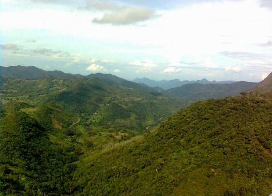 Sky view of araku valley