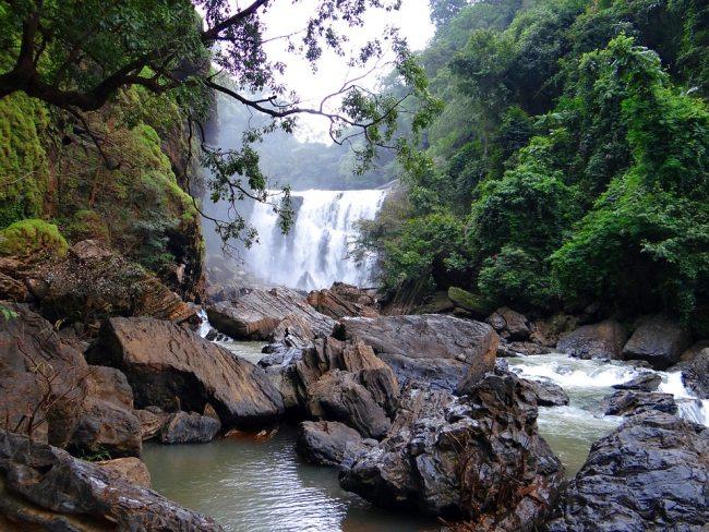 Beautiful view of sathodi falls