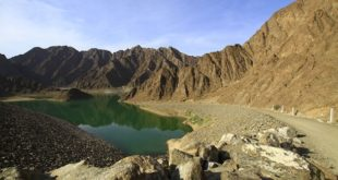 Beautiful Hatta Mountain with Dam
